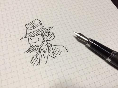 万年筆でイラスト