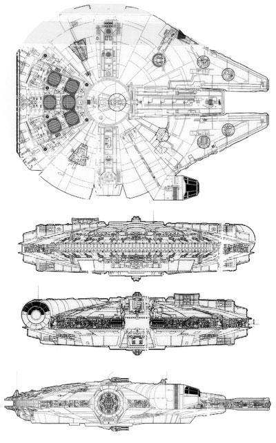 ファルコンの平面図