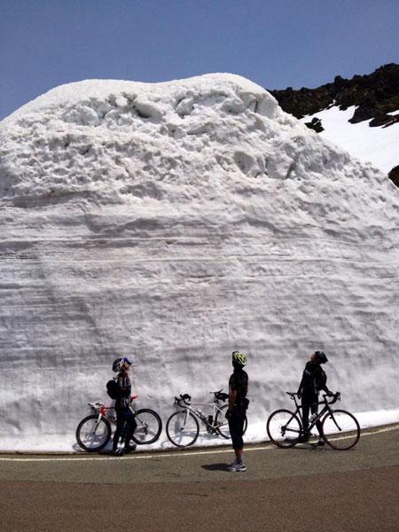 2014年の雪山