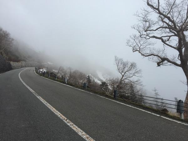 乗鞍のガスは雲の中