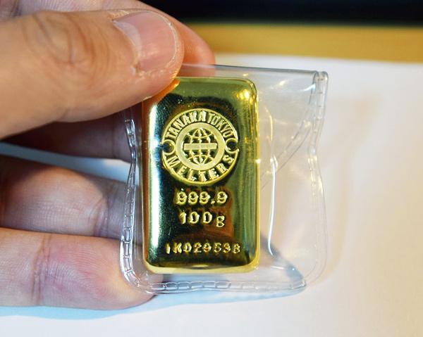 純金100gインゴット