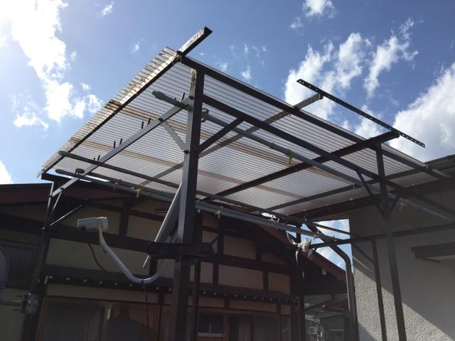 物干し台屋根
