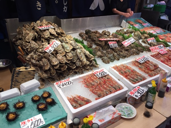 牡蠣とウニ